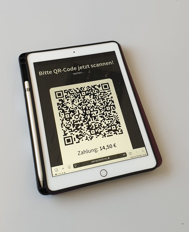 Bezahl QR-Code wird sofort von QRPay24 erzeugt