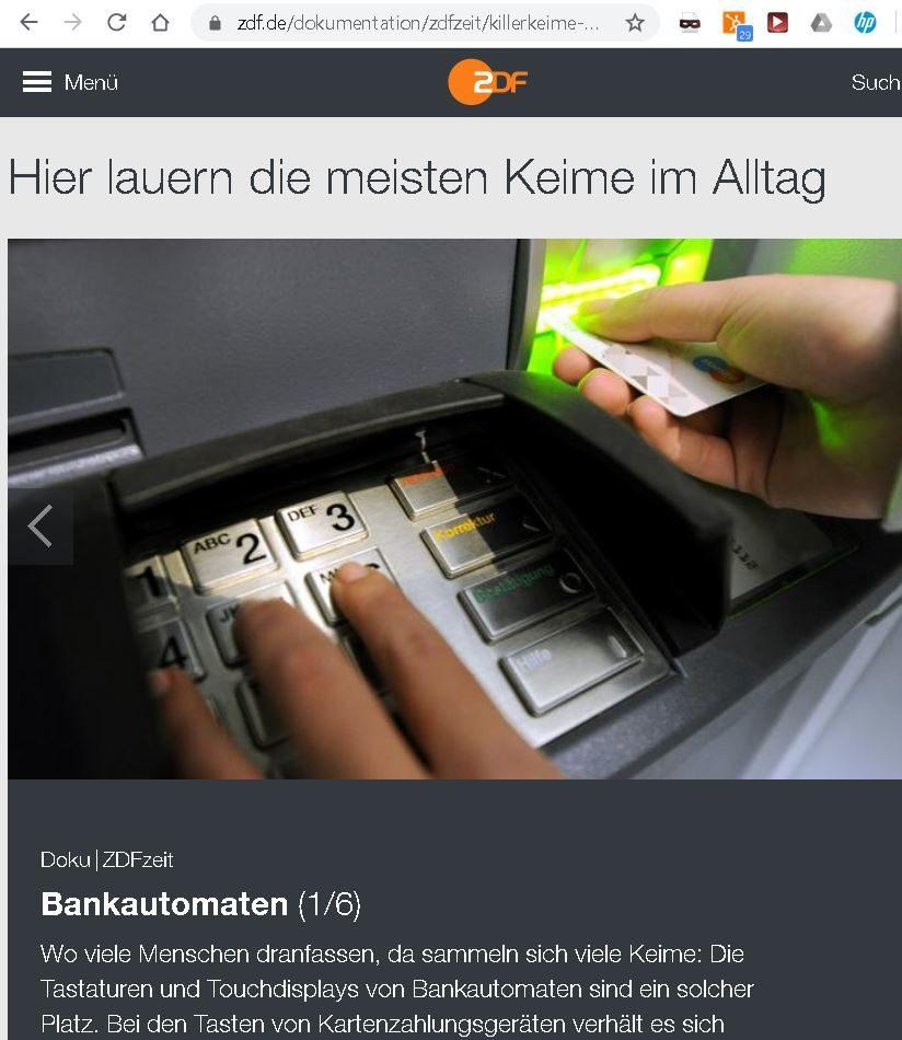 ZDF-Keime-Viren-Kartenterminals
